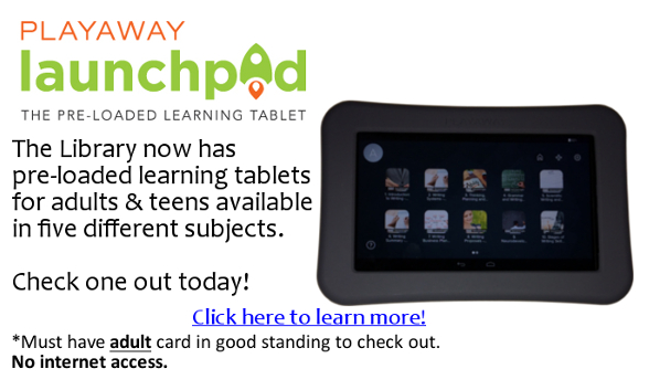 Playaway Launchpads at the Gloucester City Library.